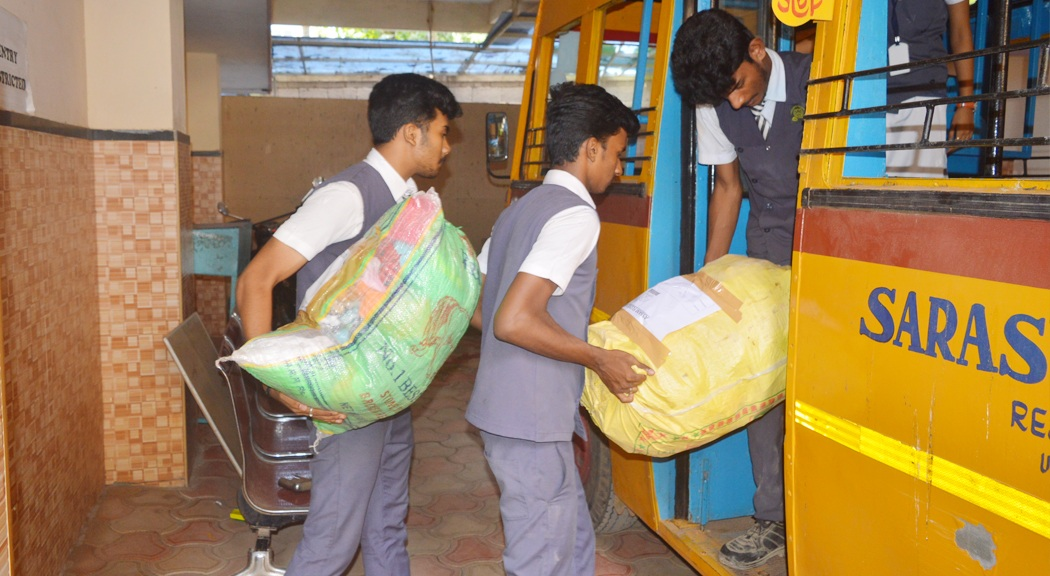 Relief materials distributed to the flood affected in Assam