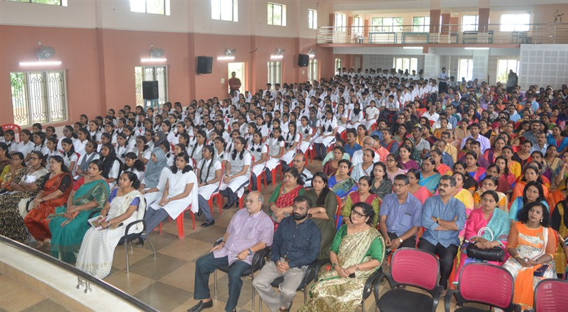 An orientation session by Dr.L R Madhujan, eminent psychologist was held for parents and students of std.XI.
