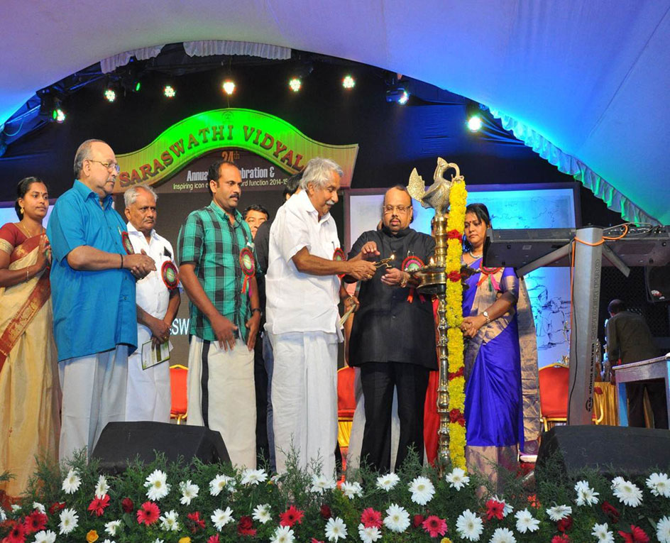 Sri. Oommen Chandy inaugurating Annual Day celebrations